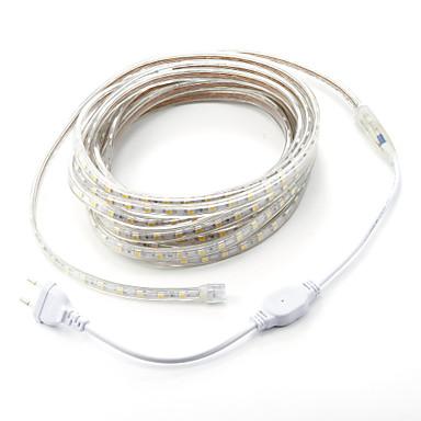 7m 1pc 220v 5050 a condus bandă flexibilă benzi de bandă de lumină Crăciun în aer liber impermeabil gradina de iluminat eu plug