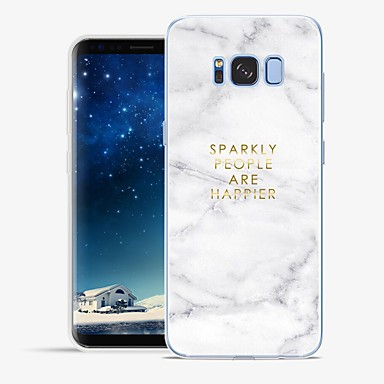 Недорогие Чехлы и кейсы для Galaxy S6-Кейс для Назначение SSamsung Galaxy S8 Plus / S8 / S7 edge С узором Чехол Слова / выражения / Мрамор Мягкий ТПУ