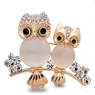 Women's Opal Brooches - Opal, Imitation Diamond Owl Ladies, Classic Brooch Jewelry Gold For Daily / Formal