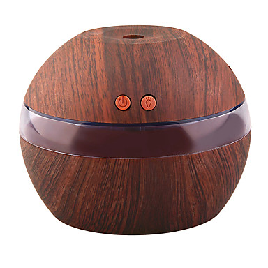 cheap Smart Lights-YK30S Mini Portable Mist Maker Aroma Essential Oil Diffuser Ultrasonic Aroma Humidifier Light Wooden USB Diffuser