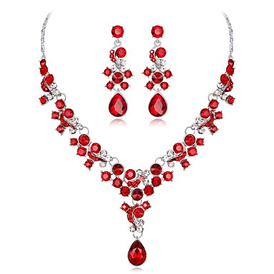 35354d151 cheap Jewelry Sets-Women's Sapphire Cubic Zirconia Jewelry Set Pear Cut