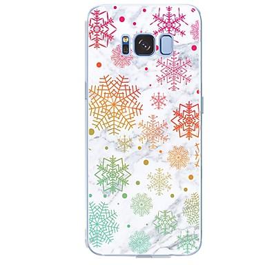 Недорогие Чехлы и кейсы для Galaxy S6-Кейс для Назначение SSamsung Galaxy S8 Plus / S8 / S7 edge С узором Кейс на заднюю панель Плитка / Мрамор Мягкий ТПУ
