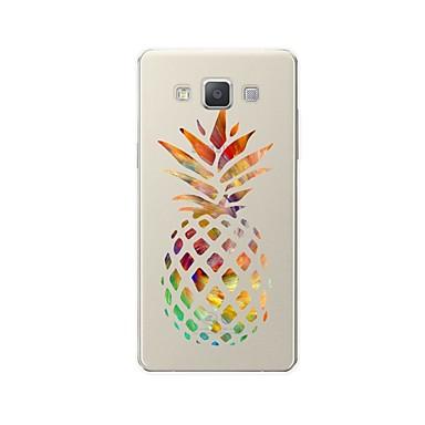 voordelige Galaxy A-serie hoesjes / covers-hoesje Voor Samsung Galaxy A3 (2017) / A5 (2017) / A7 (2017) Patroon Achterkant Cartoon / Fruit Zacht TPU