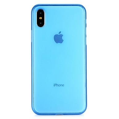 voordelige iPhone X hoesjes-hoesje Voor Apple iPhone X / iPhone 8 Plus / iPhone 8 Doorzichtig Volledig hoesje Effen Zacht PC
