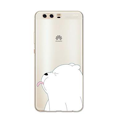 voordelige Huawei Mate hoesjes / covers-hoesje Voor Huawei P9 / Huawei P9 Lite / Huawei P8 P10 Plus / P10 Lite / P10 Patroon Achterkant dier / Cartoon Zacht TPU / Huawei P9 Plus