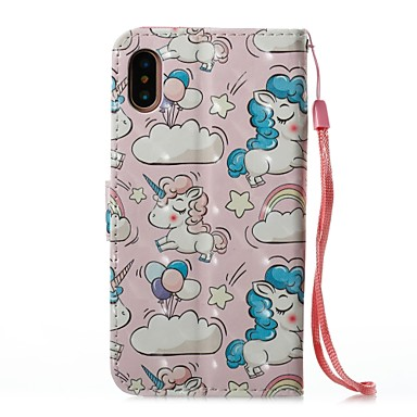 Integrale Con X per iPhone Porta Per Unicorno supporto pelle portafoglio X A iPhone Resistente credito 8 06479816 iPhone Apple 8 iPhone carte sintetica di 8 Custodia Plus iPhone RHx6H7