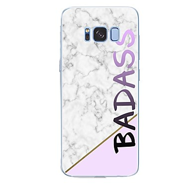 voordelige Galaxy S-serie hoesjes / covers-hoesje Voor Samsung Galaxy S8 Plus / S8 / S7 edge Patroon Achterkant Woord / tekst / Marmer Zacht TPU