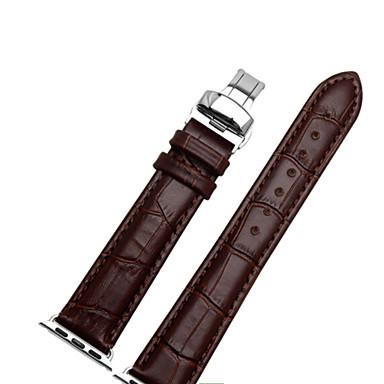 Недорогие Ремешки для Apple Watch-Ремешок для часов для Apple Watch Series 4/3/2/1 Apple Современная застежка Натуральная кожа Повязка на запястье