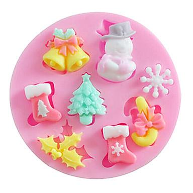 Bakeware araçları Silikon Noel / Kendin-Yap Kek / Kurabiye / Tart karikatür Şekilli Pişirme Kalıp