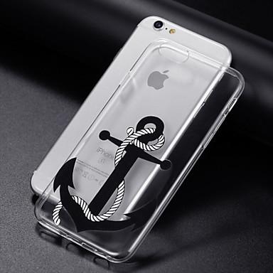 voordelige iPhone 7 hoesjes-hoesje Voor Apple iPhone 8 Plus / iPhone 8 / iPhone 7 Plus Transparant / Patroon Achterkant Cartoon / Anker Zacht TPU