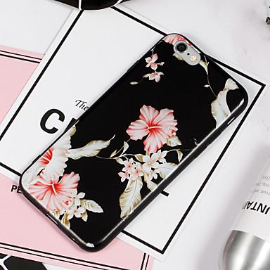 Kılıf Na Apple iPhone 8 iPhone 8 Plus Wzór Czarne etui Kwiaty Miękkie TPU na iPhone 8 Plus iPhone 8 iPhone 7 Plus iPhone 7 iPhone 6s Plus