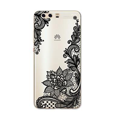 voordelige Huawei Y-serie hoesjes / covers-hoesje Voor Huawei P9 / Huawei P9 Lite / Huawei P8 P10 Plus / P10 Lite / P10 Patroon Achterkant Lace Printing Zacht TPU / Huawei P9 Plus