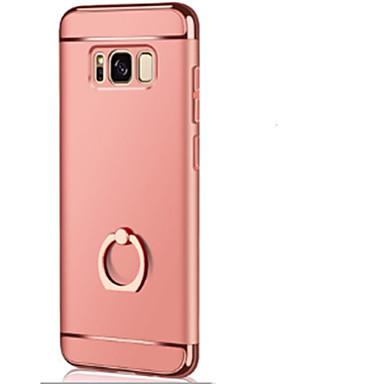 Недорогие Чехлы и кейсы для Galaxy S6-Кейс для Назначение SSamsung Galaxy S8 Plus / S8 / S7 edge Кольца-держатели / Ультратонкий / Оригами Кейс на заднюю панель Однотонный Твердый ПК