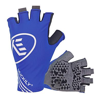 Nuckily Sporthandschuhe Fahrradhandschuhe UV-resistant Atmungsaktiv Anti-Rutsch Stoßfest Fingerlos Lycra Radsport / Fahhrad Herrn Damen