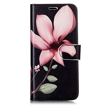 Недорогие Чехлы и кейсы для Galaxy S6-Кейс для Назначение SSamsung Galaxy S8 Plus / S8 / S7 edge Кошелек / Бумажник для карт / Флип Чехол Цветы Твердый Кожа PU