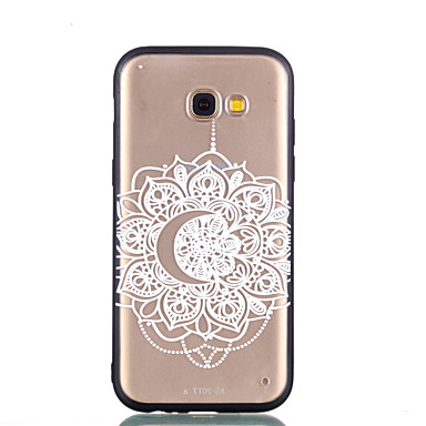 voordelige Galaxy A-serie hoesjes / covers-hoesje Voor Samsung Galaxy A5(2018) / Galaxy A7(2018) / A3 (2017) Transparant / Reliëfopdruk / Patroon Achterkant Lace Printing Hard PC