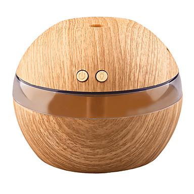 yk30 mini bærbar tåge maker aroma æterisk olie diffusor ultralyd aroma luftfugtiger lys træ usb diffuser