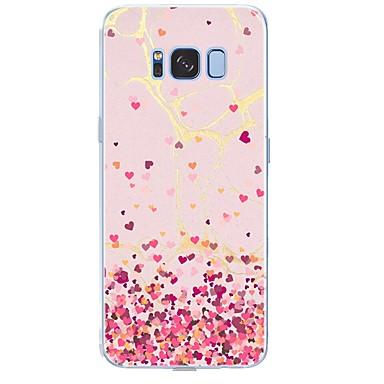 Недорогие Чехлы и кейсы для Galaxy S6-Кейс для Назначение SSamsung Galaxy S8 Plus / S8 / S7 edge С узором Кейс на заднюю панель Плитка / С сердцем / Мрамор Мягкий ТПУ