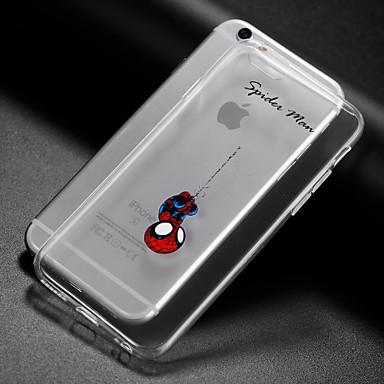 Capinha Para Apple iPhone X iPhone 8 iPhone 6 iPhone 6 Plus Transparente Capa traseira Brincadeira Com Logo da Apple Macia TPU para