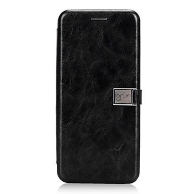 Недорогие Чехлы и кейсы для Galaxy S-Lenuo Кейс для Назначение Samsung S9 Plus / S9 Бумажник для карт / Флип / Магнитный Чехол Однотонный Твердый Кожа PU для S9 / S9 Plus / S8 Plus