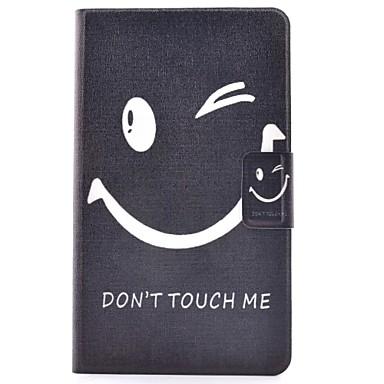 voordelige Samsung Tab-serie hoesjes / covers-hoesje Voor Samsung Galaxy Tab 4 8.0 Kaarthouder / met standaard / Flip Volledig hoesje Woord / tekst Hard PU-nahka