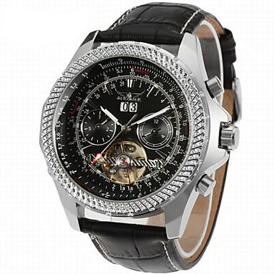38c19f4f8a8 Jaragar Pánské Náramkové hodinky Automatické natahování Kůže Černá Kalendář  Cool Analogové Na běžné nošení Módní -