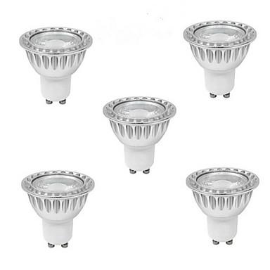 5pcs 5W 400-500 lm GU10 LED Spot Işıkları 1 led COB Sıcak Beyaz Serin Beyaz Doğal Beyaz 85-265V