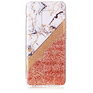 [$4.99] Case For Samsung Galaxy A8 2018 IMD Pattern Back Cover Marble Glitter Shine Soft TPU for A8 2018