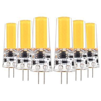 Χαμηλού Κόστους Λαμπτήρες LED-YWXLIGHT® 6pcs 5 W LED Φώτα με 2 pin 400-500 lm G4 T 1 LED χάντρες COB Διακοσμητικό Θερμό Λευκό Ψυχρό Λευκό 12-24 V 12 V