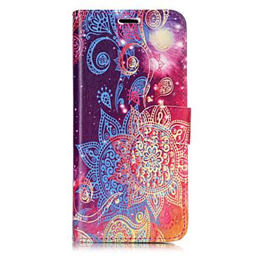 Недорогие Чехлы и кейсы для Galaxy S6-Кейс для Назначение SSamsung Galaxy S8 Plus / S8 / S7 edge Кошелек / Бумажник для карт / со стендом Чехол Кружева Печать Твердый Кожа PU