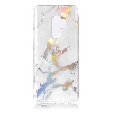 Недорогие Чехлы и кейсы для Galaxy S6-Кейс для Назначение SSamsung Galaxy S9 / S9 Plus / S8 Plus Покрытие / IMD Кейс на заднюю панель Мрамор Мягкий ТПУ