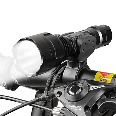 LED Flashlights / Torch / Front Bike Light LED Cycling Adjustable Focus 18650 Lumens Battery Camping / Hiking / Caving / Everyday Use /