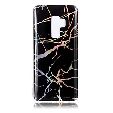 Недорогие Чехлы и кейсы для Galaxy S6 Edge-Кейс для Назначение SSamsung Galaxy S9 / S9 Plus / S8 Plus Покрытие / IMD / С узором Кейс на заднюю панель Мрамор Мягкий ТПУ