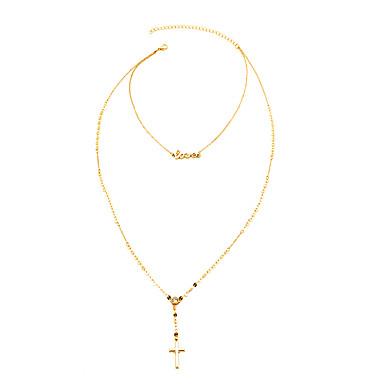 Dam Kubisk Zirkoniumoxid Chokerhalsband   Hänge Halsband   Lager Halsband -  Diamantimitation Kors 5d5a8af176ae0