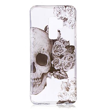 Hülle Für Samsung Galaxy S9 Plus / S9 IMD / Muster / Transparent Körper Rückseite Totenkopf Motiv Weich TPU für S9 / S9 Plus / S8 Plus