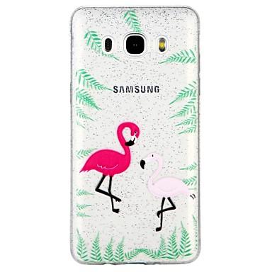 voordelige Galaxy J-serie hoesjes / covers-hoesje Voor Samsung Galaxy J7 (2017) / J7 (2016) / J5 (2017) Doorzichtig / Patroon Achterkant dier / Cartoon / Glitterglans Zacht TPU