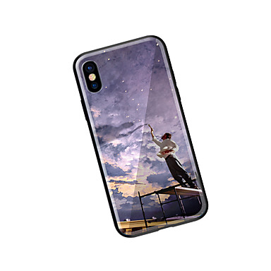 Custodia 8 Plus iPhone Resistente per iPhone X retro Per disegno Per 8 iPhone Paesaggi Fantasia iPhone Apple X 8 iPhone 06592317 Vetro temperato XRHXqrw