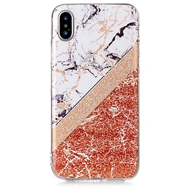 marmo 8 iPhone retro 8 Per Effetto disegno Glitterato iPhone X X TPU Per iPhone IMD iPhone Custodia Morbido Plus per Fantasia 06591950 Apple qS7wnICR