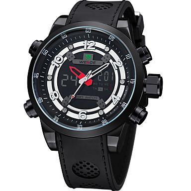 levne Pánské-WEIDE Pánské Sportovní hodinky Digitální hodinky japonština Digitální Pryž Černá 30 m Voděodolné Kalendář Hodinky s dvojitým časem Analog - Digitál Luxus - Černá / Velký ciferník