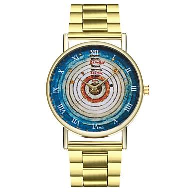 levne Pánské-Dámské zlaté hodinky Nerez Zlatá Chronograf Velký ciferník Analogové dámy Vintage Barevná - Zlatá Jeden rok Životnost baterie / SSUO LR626