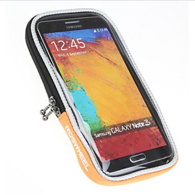 ROSWHEEL 자전거 핸들바 백 휴대 전화 가방 5inch 인치 방수 비 방지 방수 지퍼 먼지 방지 전화 / Iphone Iphone 홀더 터치 스크린 충격방지 싸이클링 용 iPhone 8/7/6S/6 다른 유사한 크기의 전화
