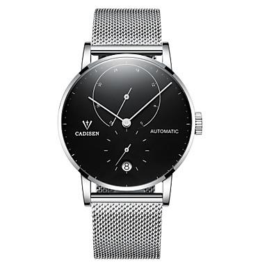 levne Pánské-CADISEN Pánské Hodinky na běžné nošení Módní hodinky japonština Automatické natahování Nerez Stříbro / Růžové zlato 50 m Voděodolné Kalendář Hodinky na běžné nošení Analogové Módní Elegantní Cool -
