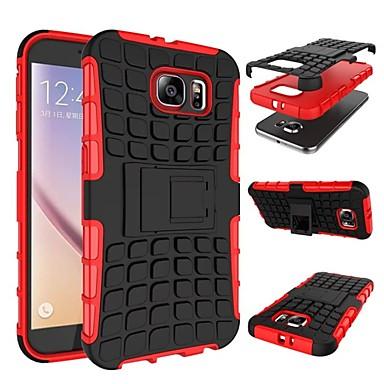 Недорогие Чехлы и кейсы для Galaxy S6-Кейс для Назначение SSamsung Galaxy S9 / S9 Plus / S8 Plus Защита от удара / со стендом Кейс на заднюю панель броня Мягкий ТПУ
