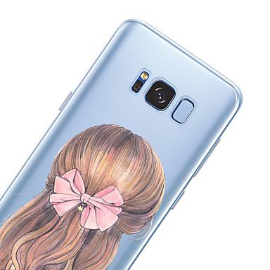 Недорогие Чехлы и кейсы для Galaxy S6-Кейс для Назначение SSamsung Galaxy S8 Plus / S8 / S7 edge С узором Кейс на заднюю панель Соблазнительная девушка Мягкий ТПУ