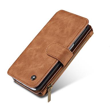 voordelige Galaxy Note-serie hoesjes / covers-hoesje Voor Samsung Galaxy Note 8 / Note 5 Portemonnee / Kaarthouder Volledig hoesje Effen Hard aitoa nahkaa