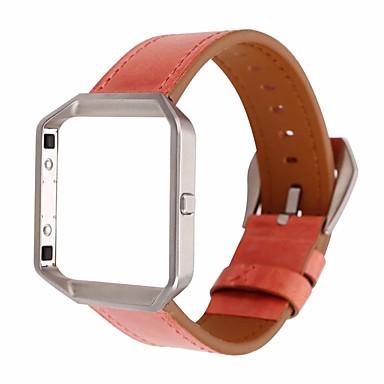 voordelige Smartwatch-accessoires-Horlogeband voor Fitbit Blaze Fitbit Leren lus Echt leer Polsband