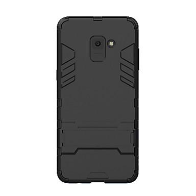 voordelige Galaxy A-serie hoesjes / covers-hoesje Voor Samsung Galaxy A8+ 2018 Schokbestendig / met standaard Achterkant Effen Hard PC