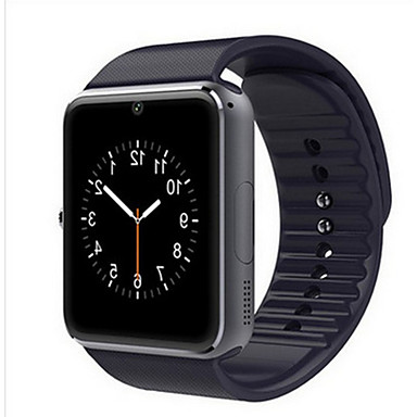 preiswerte Damen Uhren-Herrn Damen Uhr Sportuhr Smartwatch Digitaluhr Leder Schwarz / Rot Bluetooth Kalender leuchtend digital Freizeit Quadrat Modisch Schwarz Silber Rot