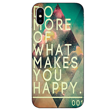Case For Apple iPhone X iPhone 8 Pattern Back Cover Word / Phrase Geometric Pattern Soft TPU for iPhone X iPhone 8 Plus iPhone 8 iPhone 7