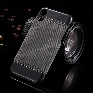 voordelige iPhone 5 hoesjes-hoesje Voor Apple iPhone X / iPhone 8 Plus / iPhone 8 Schokbestendig / Ultradun Achterkant Effen Hard PU-nahka